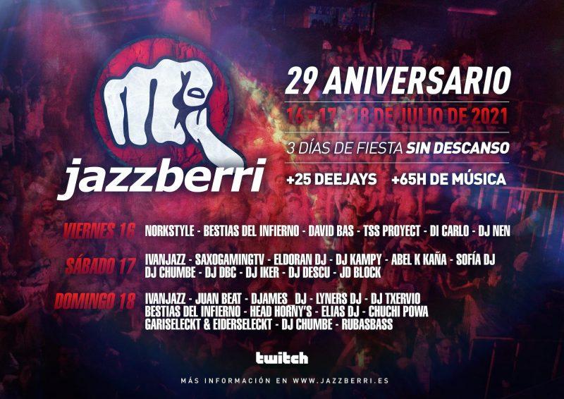 Aniversario Jazzberri 2021 Flyer