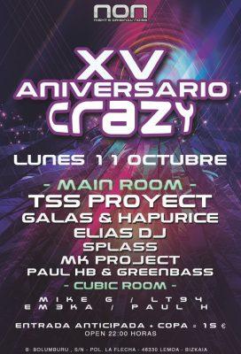 Flyer XV Aniversario Crazy